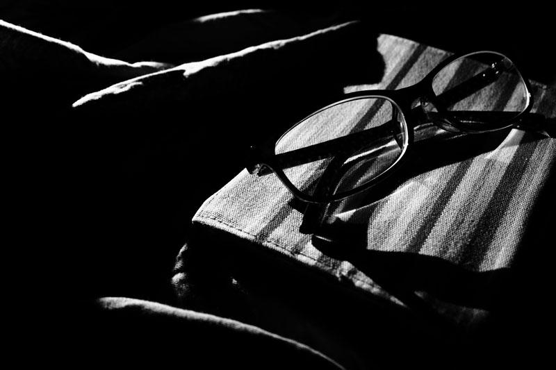 モノクロかつ白黒画像の例