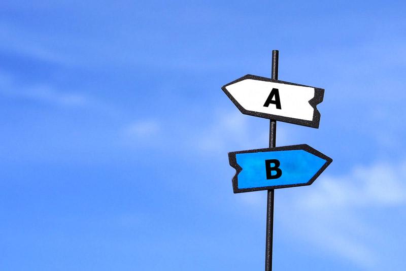 AとBどっちが正しい?