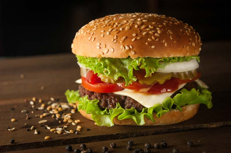 おいしそうなハンバーガーイメージ